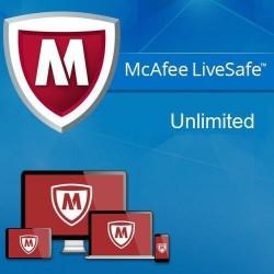 McAfee LiveSafe bez limitu stanowisk 1 rok
